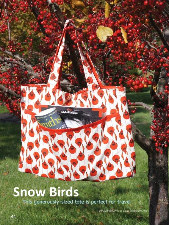 Snow Birds Tote